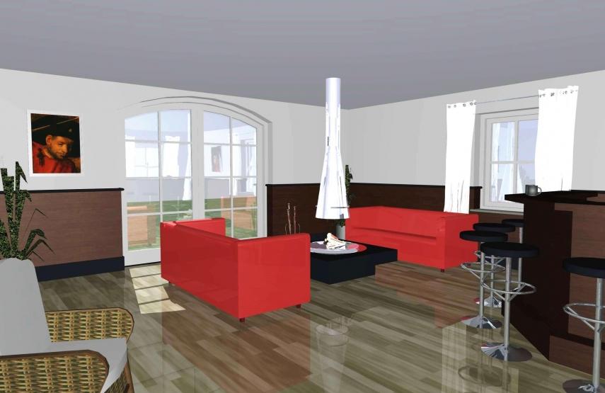 Ontwerp verbouwing met interieur Hengelo Gld. - 3D ontwerpen